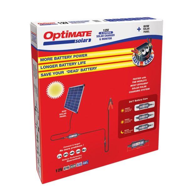 Солнечное зарядное устройство аккумулятора Optimate Solar 80W TM523-8KIT1