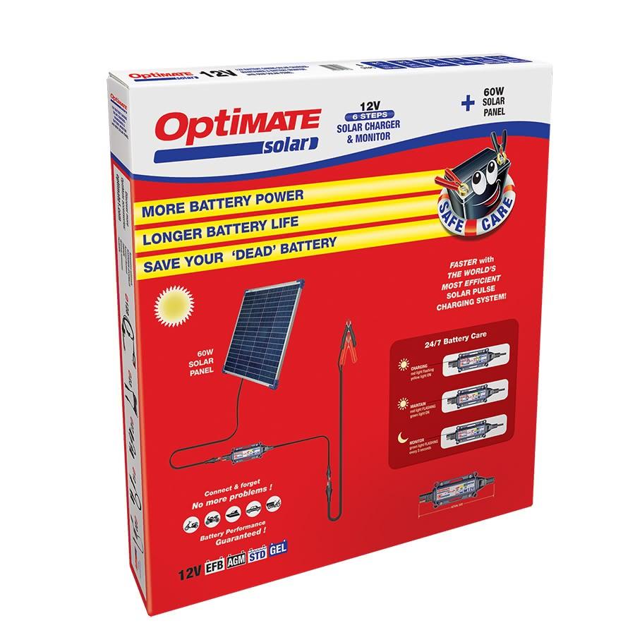 Солнечное зарядное устройство аккумулятора Optimate Solar 60W TM523-6KIT1