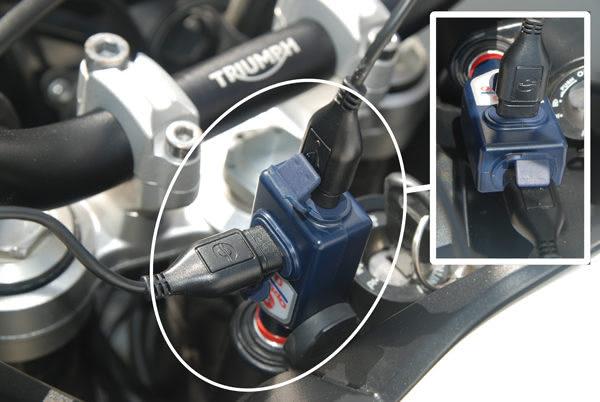 DIN USB адаптер для зарядки телефона BMW, KTM, TRIUMPH